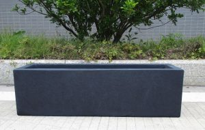 Window Box Light Concrete Dark Grey Planter L60 W17 H17.5 cm by Idealist Lite