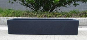 Window Box Light Concrete Dark Grey Planter L80 W17 H17.5 cm by Idealist Lite