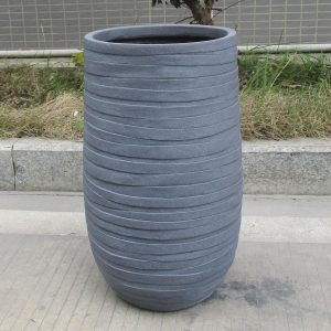 Row Stone Grey Light Concrete Vase Elegant H80 L50 W50 cm Planter