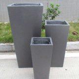Tall Tapered Contemporary Grey Light Concrete Planter H65 L32 W32 cm