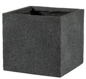 Square Textured Concrete Effect Dark Grey Outdoor Planter H28.5 L30 W30 cm