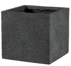 Square Textured Concrete Effect Dark Grey Outdoor Planter H34.5 L36.5 W36.5 cm