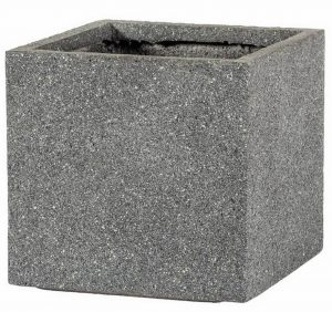 Square Textured Concrete Effect Grey Outdoor Planter H28.5 L30 W30 cm