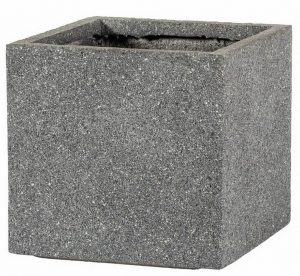 Square Textured Concrete Effect Grey Outdoor Planter H42 L44 W44 cm