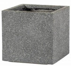 Square Textured Concrete Effect Grey Outdoor Planter H34.5 L36.5 W36.5 cm