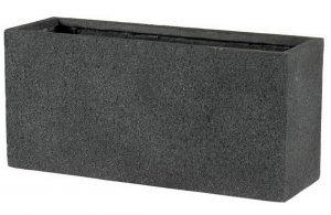 Slim Textured Concrete Effect Dark Grey Trough Outdoor Planter H44 L95 W32 cm