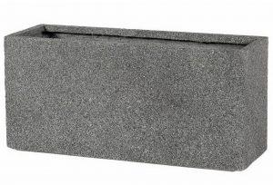 Slim Textured Concrete Effect Grey Trough Outdoor Planter H44 L95 W32 cm