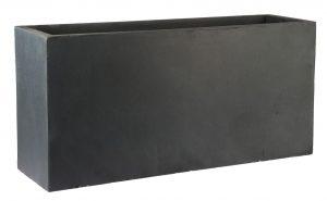 Contemporary Faux Lead Light Concrete Trough Planter H44 L95 W32 cm