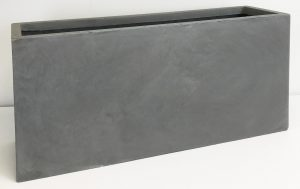 Contemporary Light Concrete Grey Trough Planter H35 L74.5 W25 cm