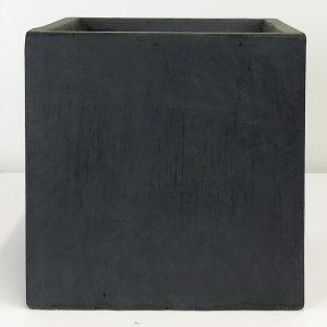 Square Box Contemporary Faux Lead Light Concrete Planter H22 L22.5 W22.5 cm