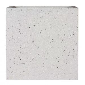 Square Box Contemporary Grey Marble Light Concrete Planter H37.5 L44 W44 cm