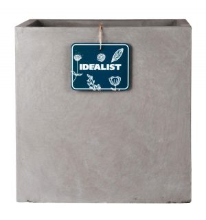 Square Box Contemporary Grey Light Concrete Planter H47 L55 W55 cm