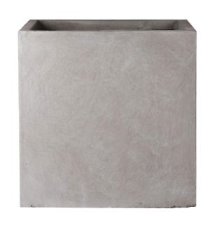 Square Box Contemporary Grey Light Concrete Planter H38 L44 W44 cm